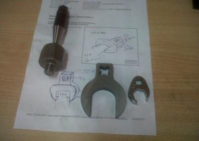 Mecanizado CNC llave especial terminada